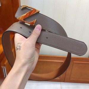Grey Ermenegildo Gold buckle belt ASS02052
