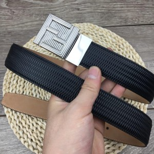Classic Fendi silver Men's buckle belt ASS02061