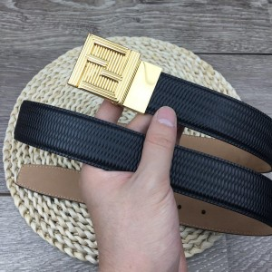 Classic Fendi Gold Men's buckle belt ASS02062