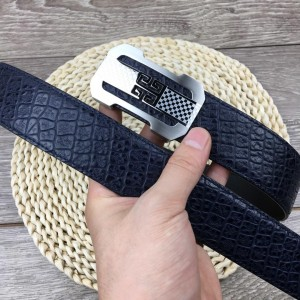 Black leather 4G Silver Givenchy belt ASS02281