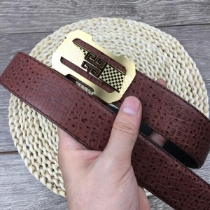 Brown leather 4G Gold Givenchy belt ASS02282