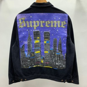 Supreme 19ss New York Painted Trucker Jacket MC280045 Updated in 2019.10.18