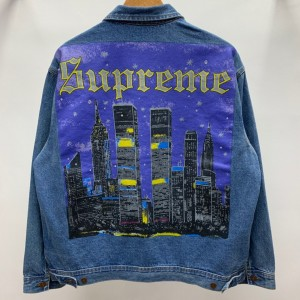 Supreme 19ss New York Painted Trucker Jacket MC280046 Updated in 2019.10.18
