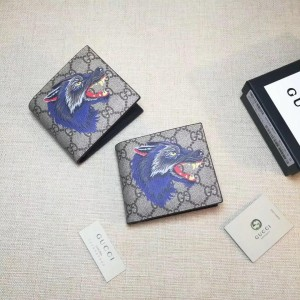 Gucci blue wolf small wallet GC06BM062