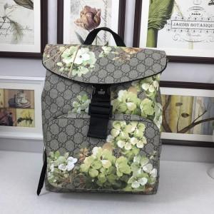 Buckle Blooms Print Gucci Canvas Backpack GC06BM073