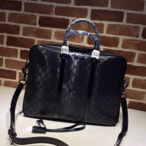 Gucci black leather spacious office bag GC06BM084