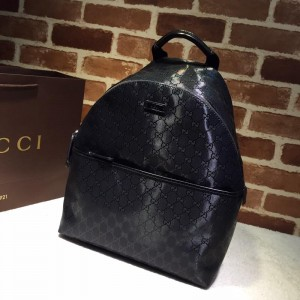Gucci black back pack with sheen GC06BM091