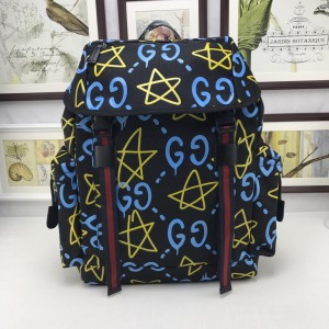 Gucci back pack with blue and yellow decorations GC06BM135