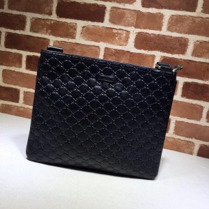 Gucci black flat sling bag with glossy finishing GC06BM153