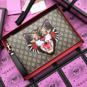 Gucci brown angry cat purse GC07WM044