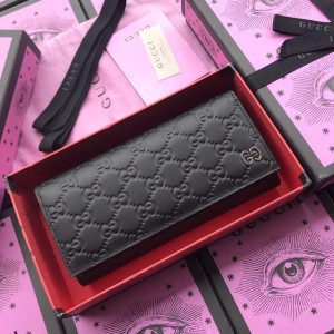Gucci black leather wallet with exterior pocket GC07WM050
