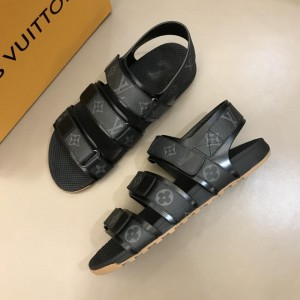 Louis Vuittion Black Sandals with LV Monogram MS021019 Updated in 2019.06.17