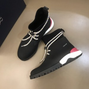 Dior HOMME lei yard design hybrid sole calfskin suede cloth boots(red) MS021041 Updated in 2019.10.21