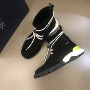 Dior HOMME lei yard design hybrid sole calfskin suede cloth boots(yellow) MS021042 Updated in 2019.10.21