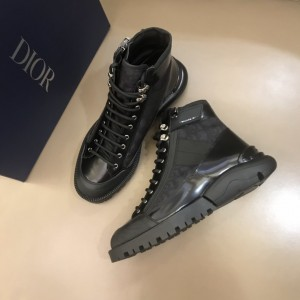 Dior Oblique Calfskin Black Boots MS021047 Updated in 2019.10.21