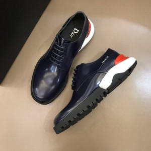 Dior Derby Brogue Loafers In Polished Black Calfskin(Red) MS021048 Updated in 2019.10.21