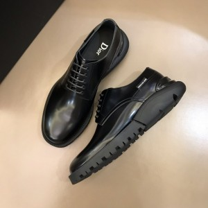 Dior Derby Brogue Loafers In Polished Black Calfskin(Black) MS021049 Updated in 2019.10.21