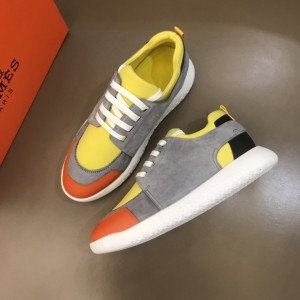 Hermes Sneakers Grey suede and Yellow tongue with White sole MS021091 Updated in 2019.10.21