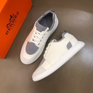 Hermes Sneakers White and Grey tongue with White sole MS021093 Updated in 2019.10.21