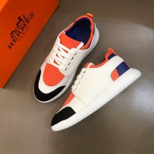 Hermes Sneakers White and Orange tongue with White sole MS021094 Updated in 2019.10.21