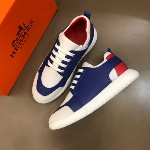Hermes Sneakers Blue and White tongue with White sole MS021096 Updated in 2019.10.21