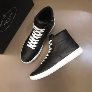 Prada Sneakers High-top Black and white sole MS021119 Updated in 2019.10.21
