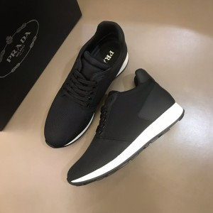 Prada Sneakers Black and black heel with white sole MS021122 Updated in 2019.10.21