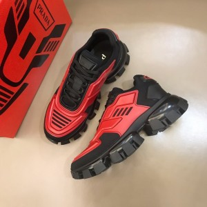 Prada Sneakers Red and black heel with black sole MS021127 Updated in 2019.10.21