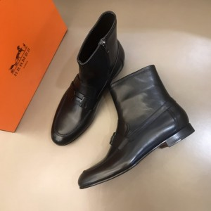 Hermes Black leather Boots MS021206 Updated in 2019.11.28