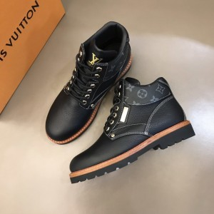 LV black leather and LV's Monogram on the Oberkampf ankle Boots MS021210 Updated in 2019.11.28
