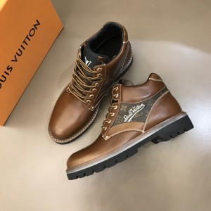 """LV Oberkampf Ankle brown calf leather Boot and with a cursive """"LV"""" MS021215 Updated in 2019.11.28"""