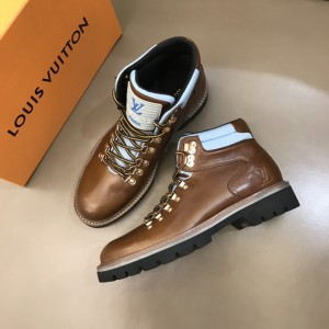 LV brown leather Boots MS021217 Updated in 2019.11.28
