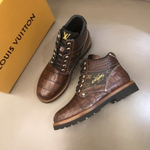 """LV Oberkampf Ankle Boot in leather and signed with """"LV"""" embroidered MS021220 Updated in 2019.11.28"""