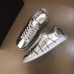 Valentino Sneakers Silver and black VLOGO print with silver sole MS021334 Updated in 2019.11.28