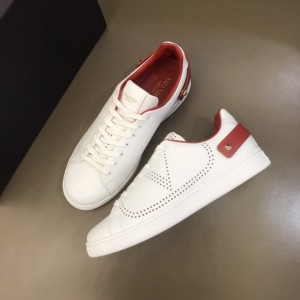Valentino Sneakers White and VLOGO embroidery with red heel strap MS021337 Updated in 2019.11.28