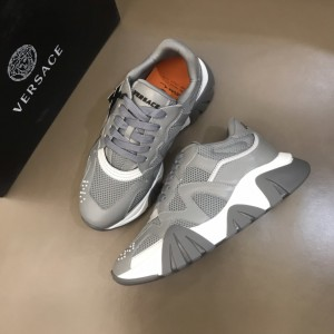 Versace Sneakers Grey and white details with grey sole MS021341 Updated in 2019.11.28