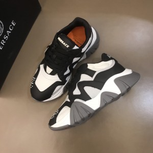 Versace Sneakers Black and white details with brown sole MS021346 Updated in 2019.11.28