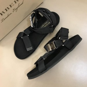 Burberry Black Sandals with canvas MS02582 Updated in 2019.04.19