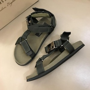 Burberry Green Sandals With Black Canvas MS02583 Updated in 2019.04.19