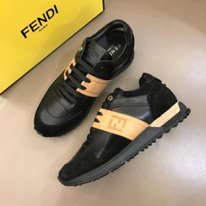 Fendi Sneakers Black and blue suede with FF pattern ribbon MS02638 Updated in 2019.04.19