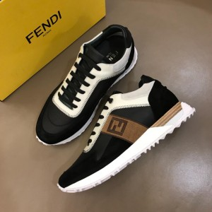 Fendi Sneakers White and black suede with FF pattern ribbon MS02639 Updated in 2019.04.19