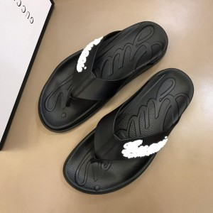 Gucci black flip-flop with gucci design MS02659 Updated in 2019.04.19