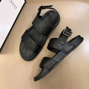 Gucci Black Sandals With Embossing GG Design MS02662 Updated in 2019.04.19