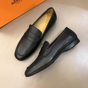 Hermes Black Leather Loafers MS02727 Updated in 2019.04.19