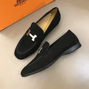 Hermes Black Bright Loafers With Silver Buckle MS02729 Updated in 2019.04.19