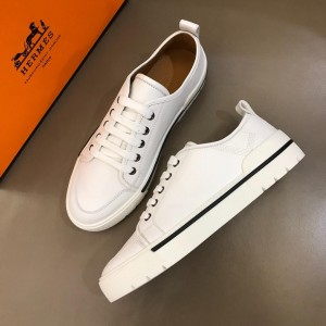Hermes Sneakers White and White rubber sole with White tongue MS02732 Updated in 2019.04.19