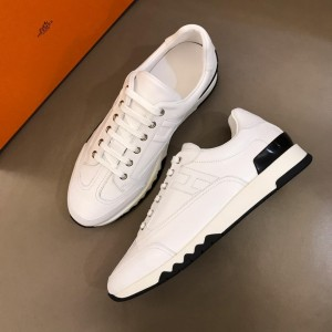 Hermes Sneakers White and Two-tone sole with White tongue MS02736 Updated in 2019.04.19