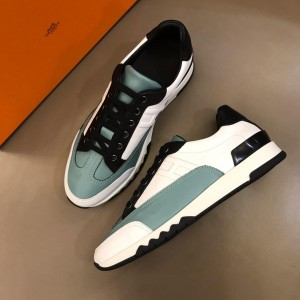 Hermes Sneakers White and Two-tone sole with Light blue tongue MS02737 Updated in 2019.04.19