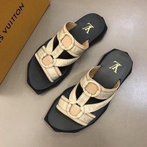 Louis Vuitton black and yellow Sandal MS02807 Updated in 2019.04.19