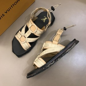 Louis Vuitton Black Sandal With LV Monogram MS02808 Updated in 2019.04.19
